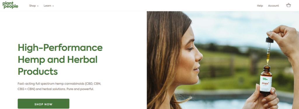 Plant People Homepage Screenshot