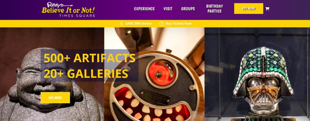 Ripley's Believe It Or Not Homepage