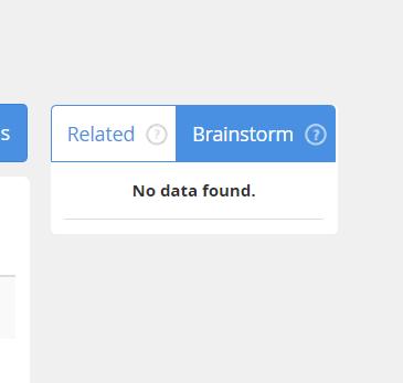Jaaxy Keyword & Brainstorm No Data