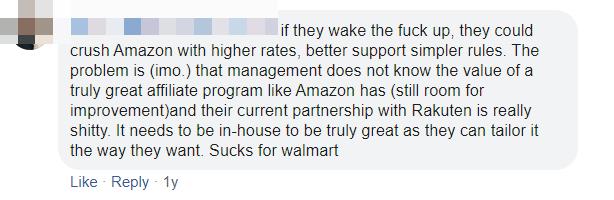 Walmart Affiliate Program Commission Structure Comment