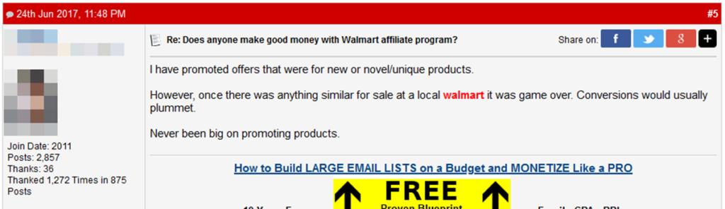 Walmart Affiliate Program Commission Structure Comment2