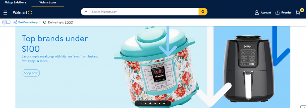 Walmart Homepage Screenshot