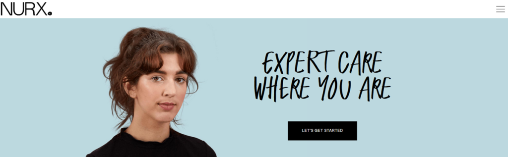 Nurx Homepage Screenshot
