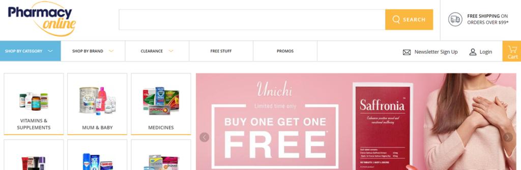 Pharmacy Online Homepage Screenshot
