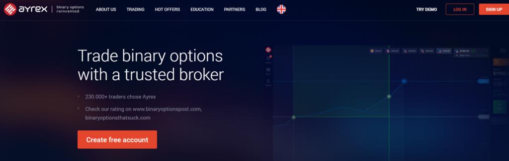 Ayrex Homepage Screenshot