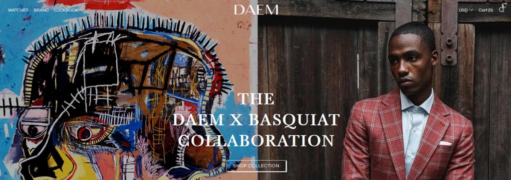 Daem Watches Homepage Screenshot