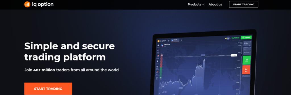 Iq Option Homepage Screenshot
