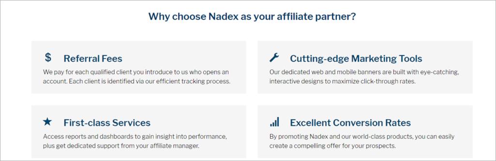 Nadex Affiliate Program Stats