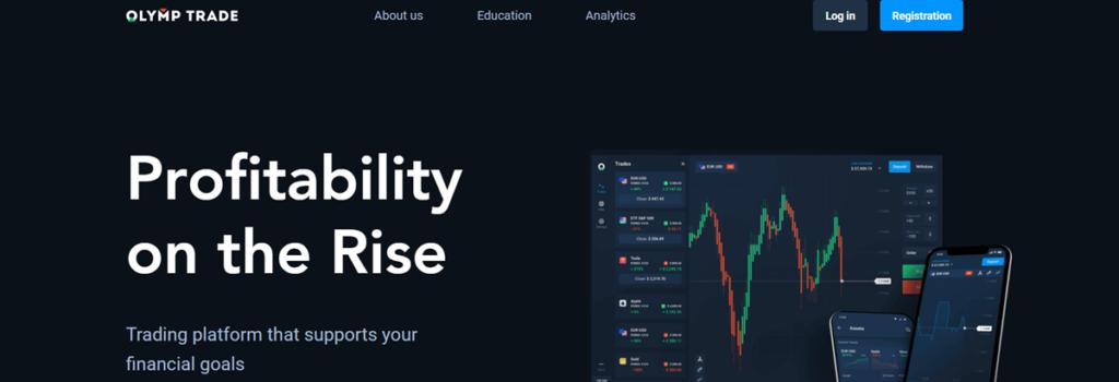 Olymp Trade Homepage Screenshot
