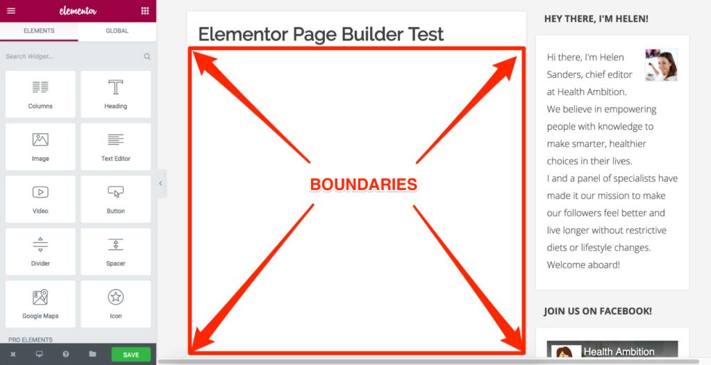 Elementor Content Area