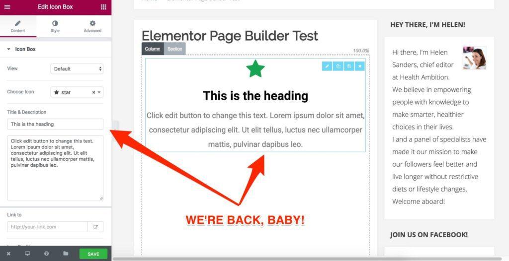 Elementor Global Widget Editor
