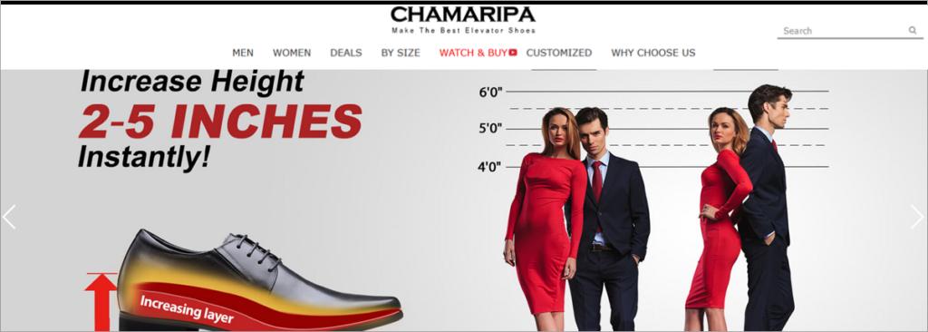 Chamaripa Homepage Screenshot