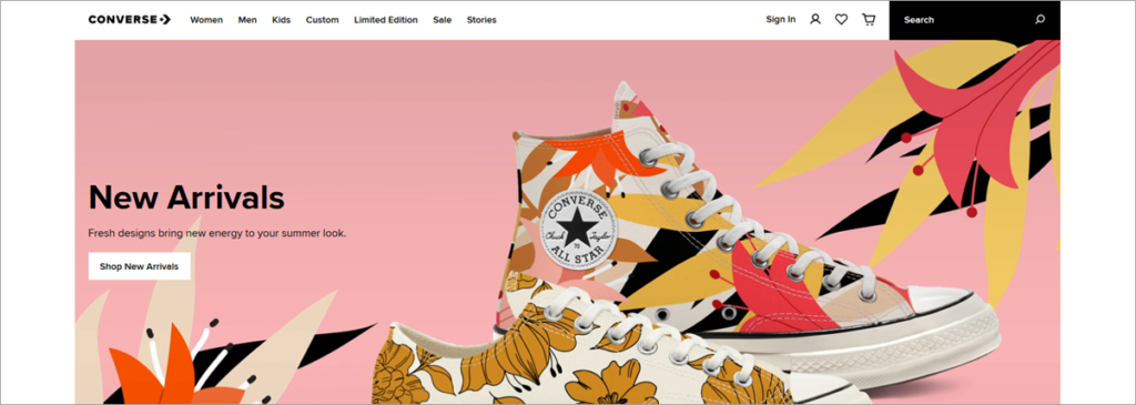 Converse Homepage Screenshot