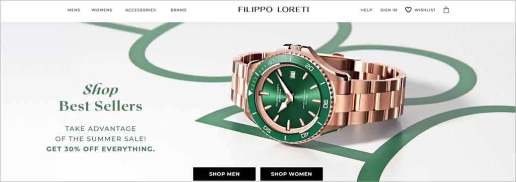 Filippo Loreti Homepage Screenshot
