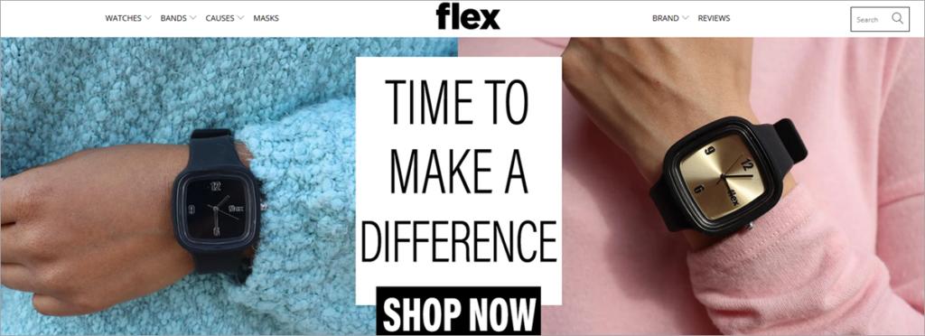 Flex Homepage Screenshot