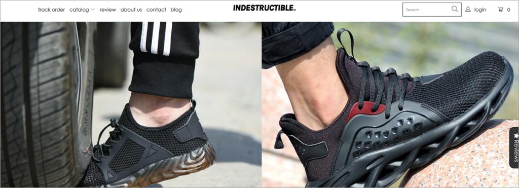 Indestructable Homepage Screenshot