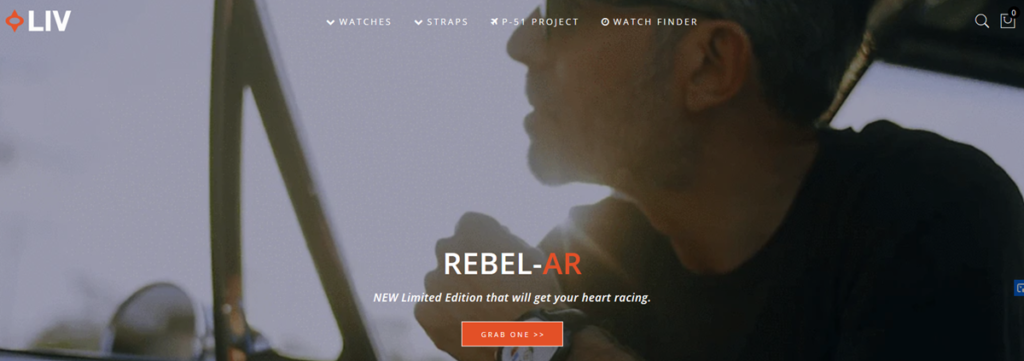 Liv Homepage Screenshot
