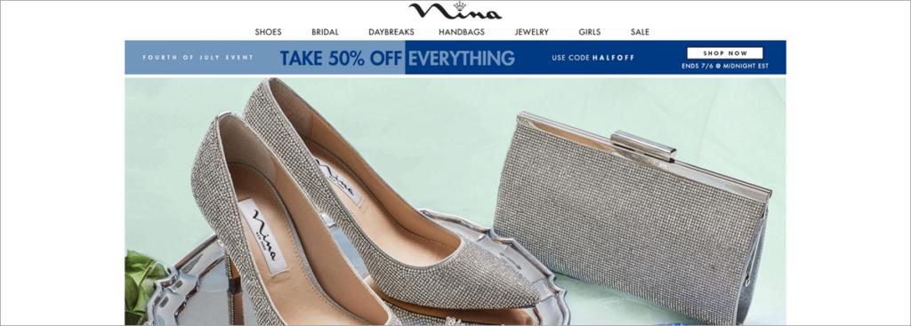 Nina Homepage Screenshot