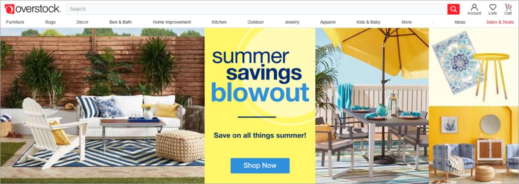 Overstock Homepage Screenshot