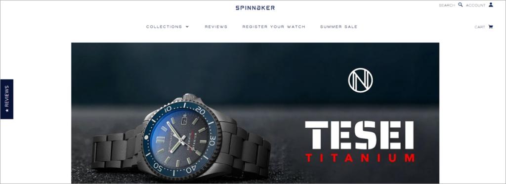 Spinnaker Homepage Screenshot