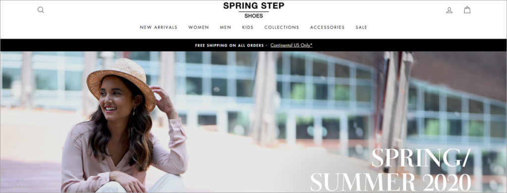 Spring Step Homepage Screenshot