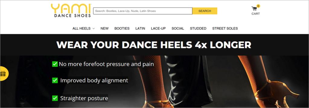 Yami Homepage Screenshot