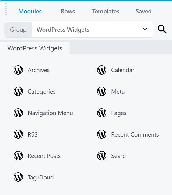 Beaver WordPress Widgets