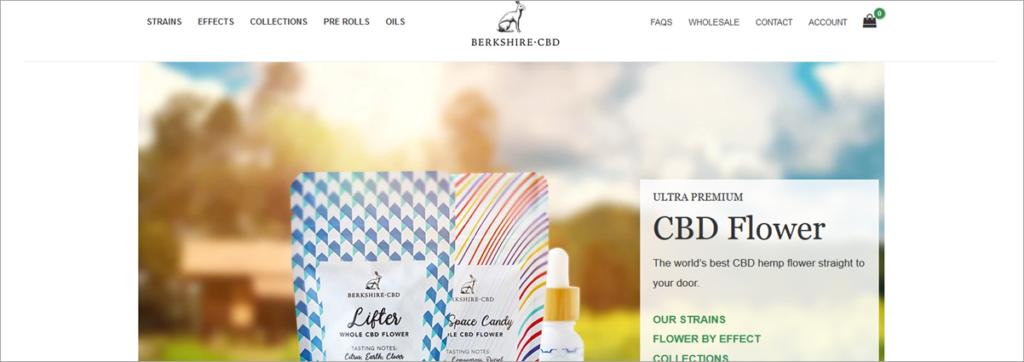 Berskshire Cbd Homepage Screenshot