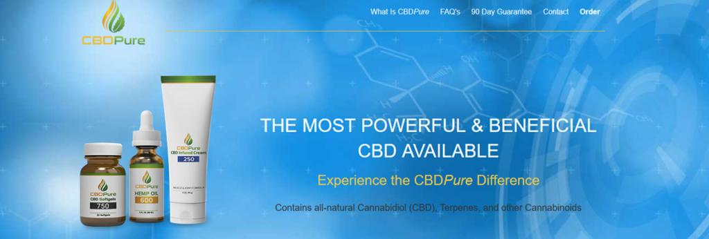 Cbd Pure Homepage Screenshot