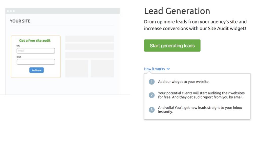 Lead Generation Semrush
