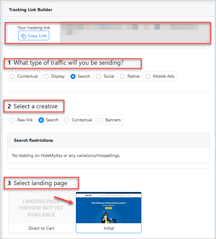Tracking Link Builder Maxbounty