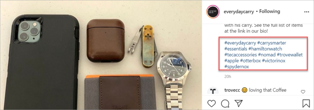 Everydaycarry Instagram Post With Tags