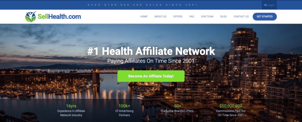Sellhealth Homepage