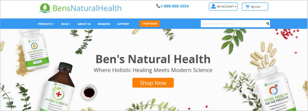 Bens Natural Health Homepage