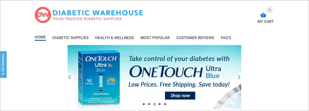 Diabetic Warehouse Homepage