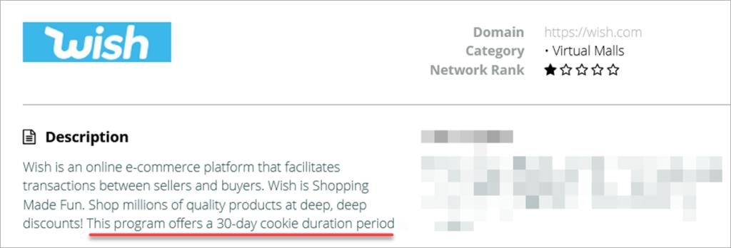 Wish Flexoffers 30 Day Cookie