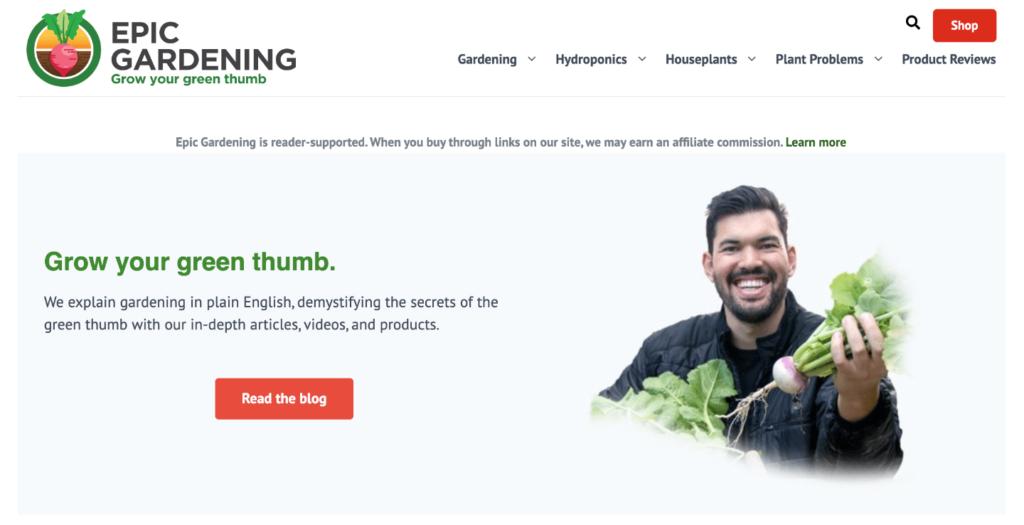 Epic Gardening Homepage