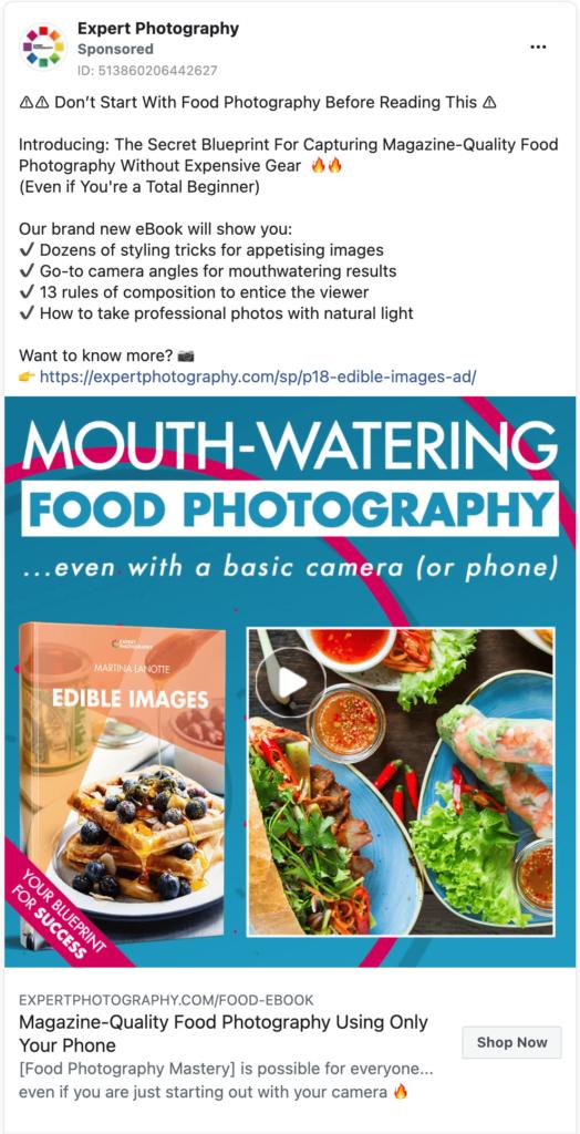 Expert Photography Facebook Ad