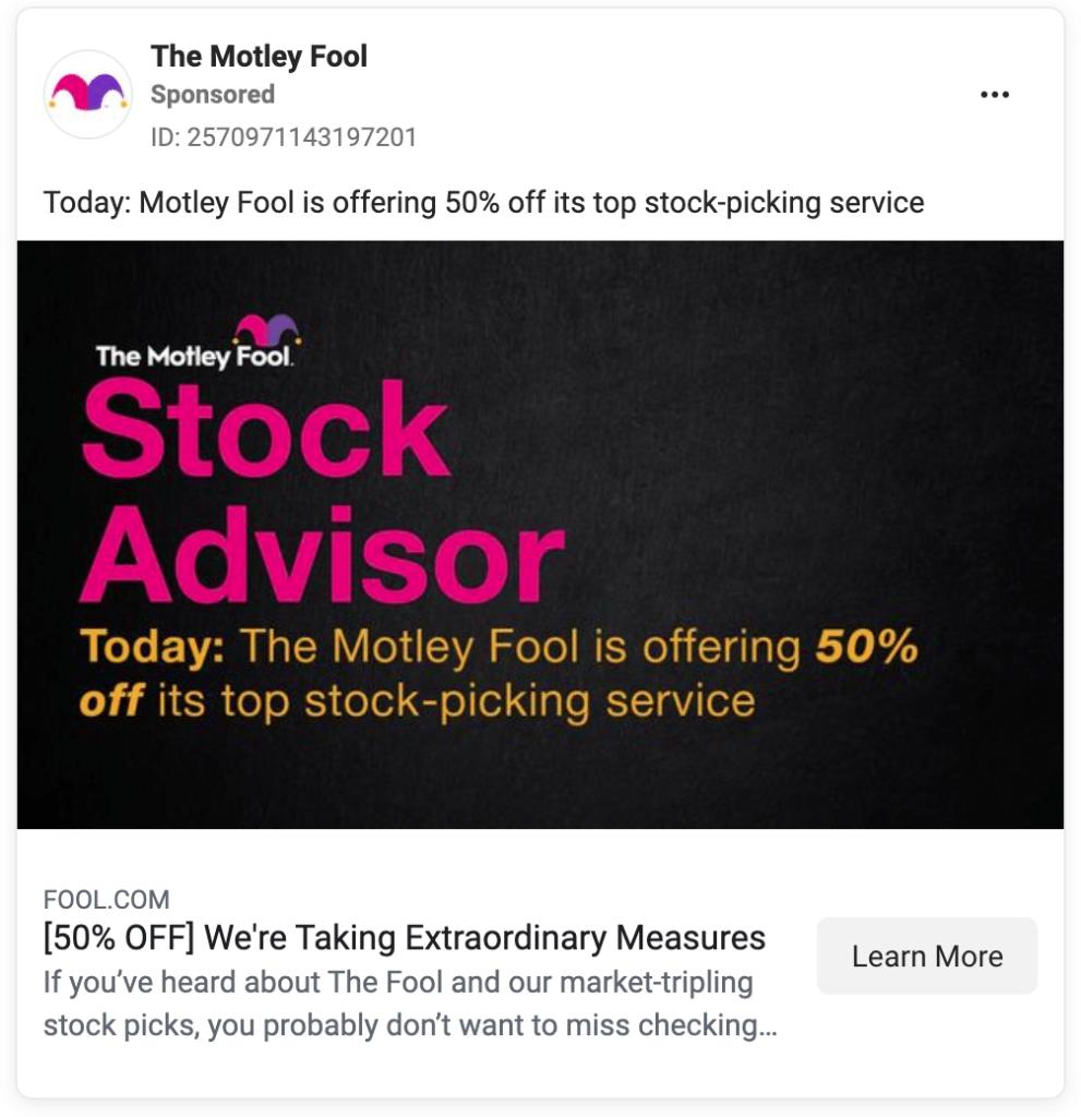 Fool.com Fb Ads