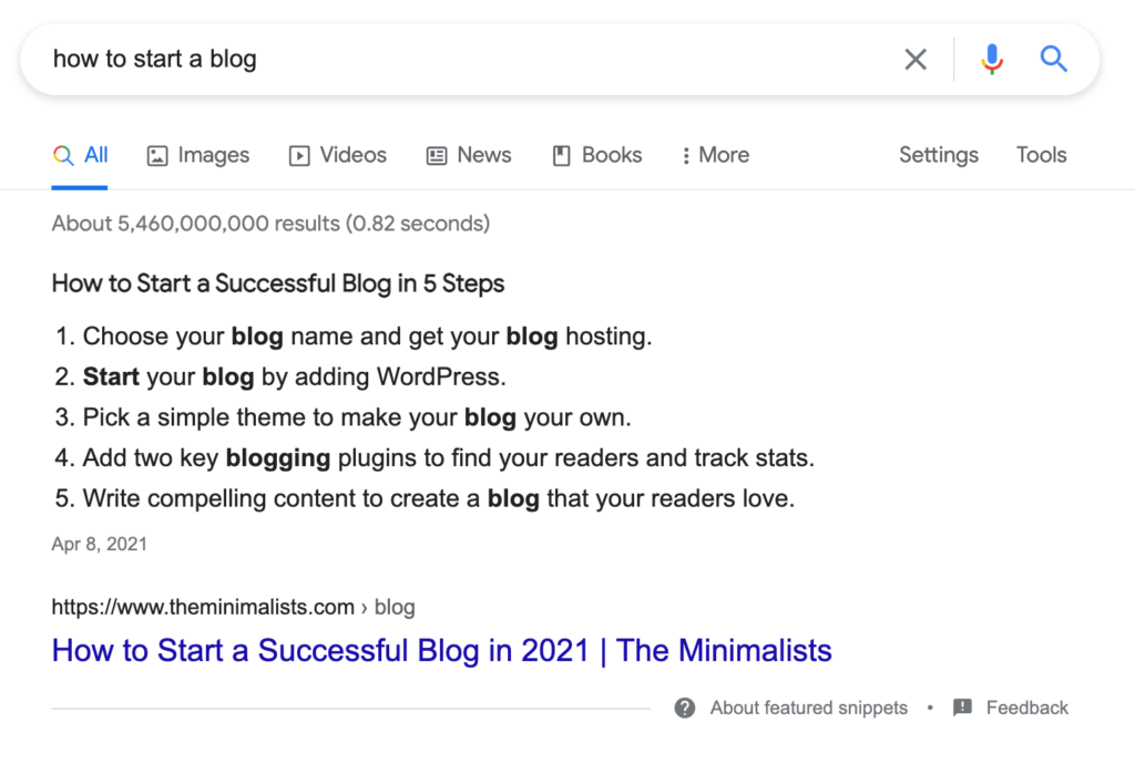 How To Start A Blog Google Search