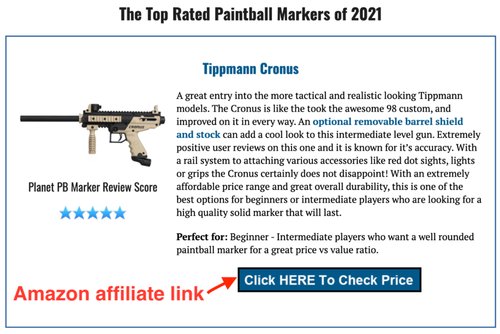 Paintball Blog Post Affiliate Link