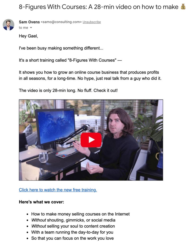 Sam Ovens Free Training Email