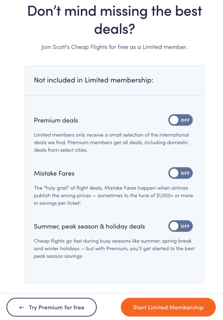 Scott'scheapflights Premium Membership