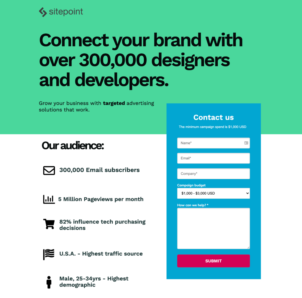 Sitepoint Direct Ads