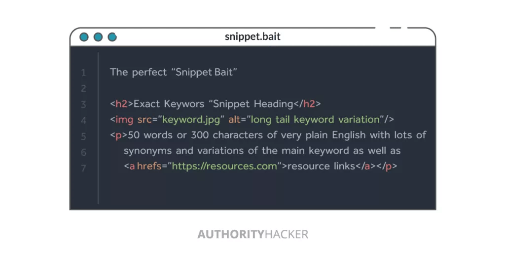 Snippet Bait Code