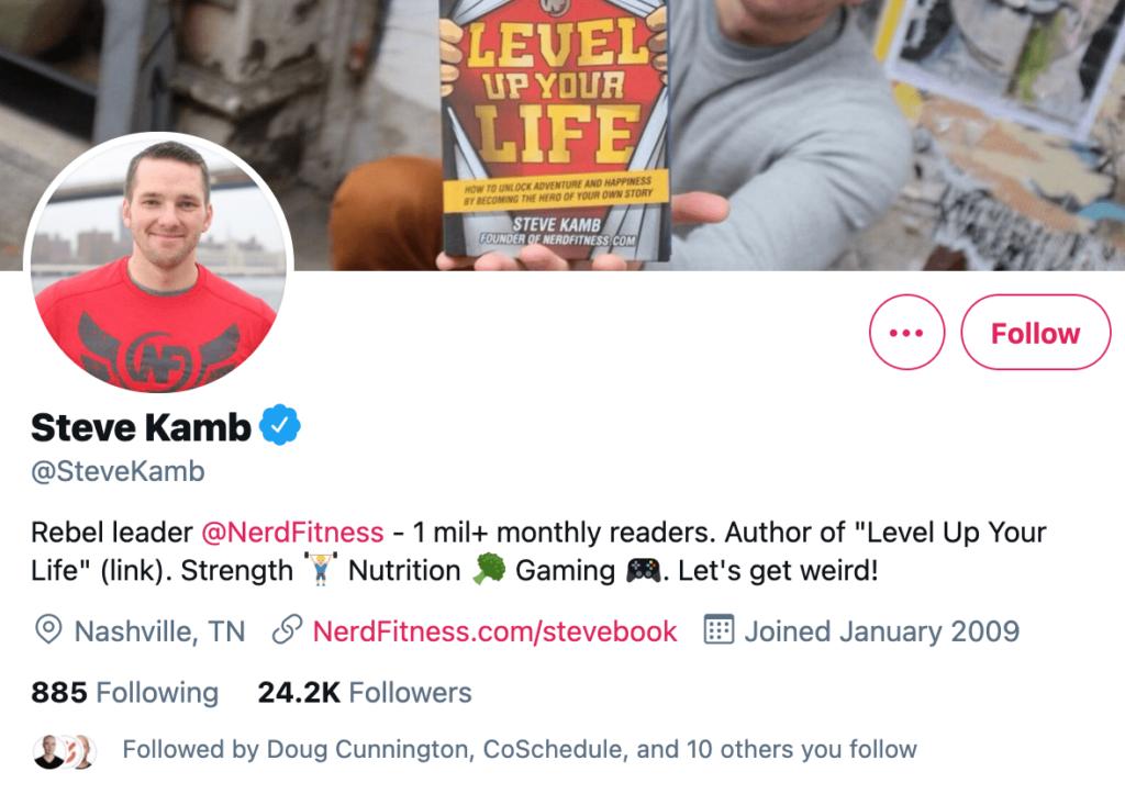 Steve Kamb Twitter