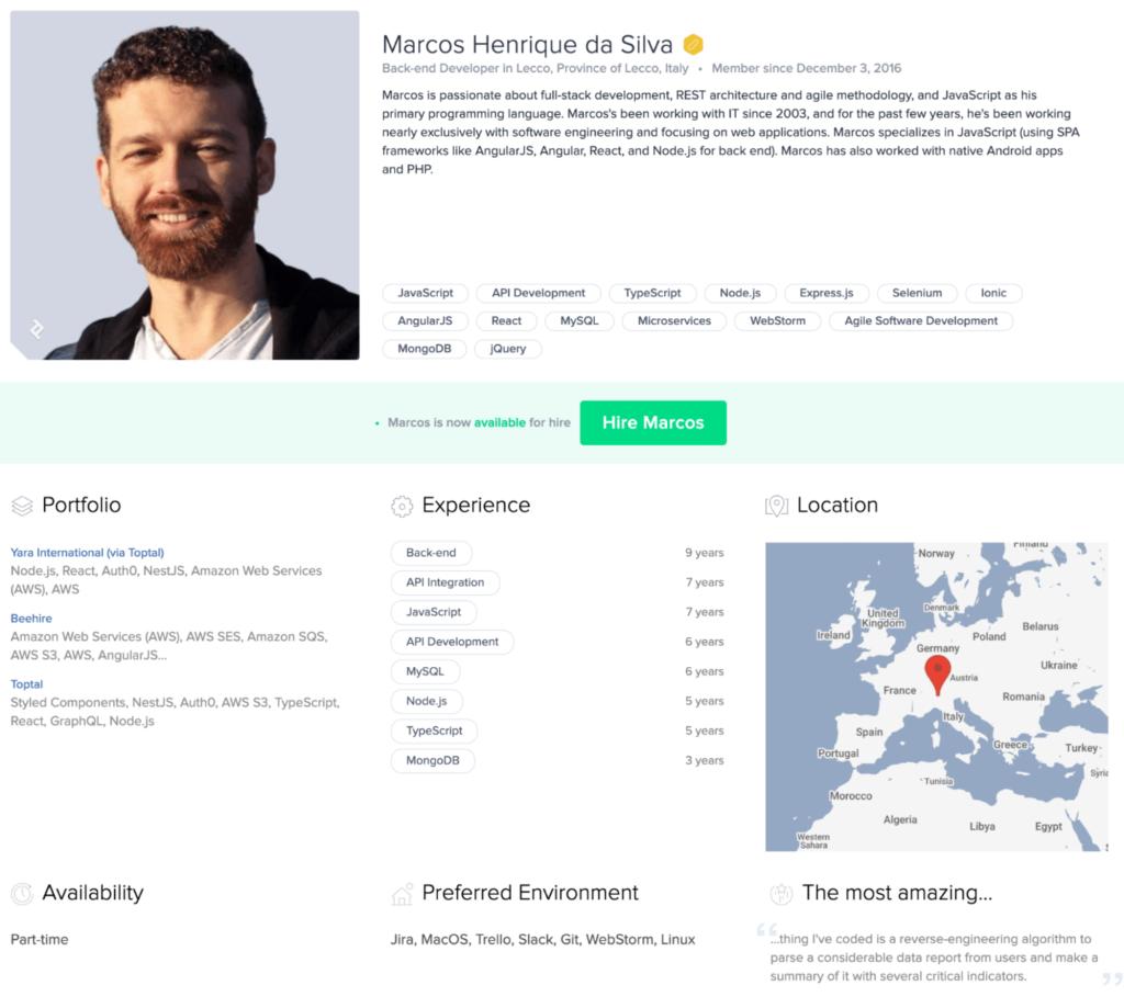 Toptal Developer Resume