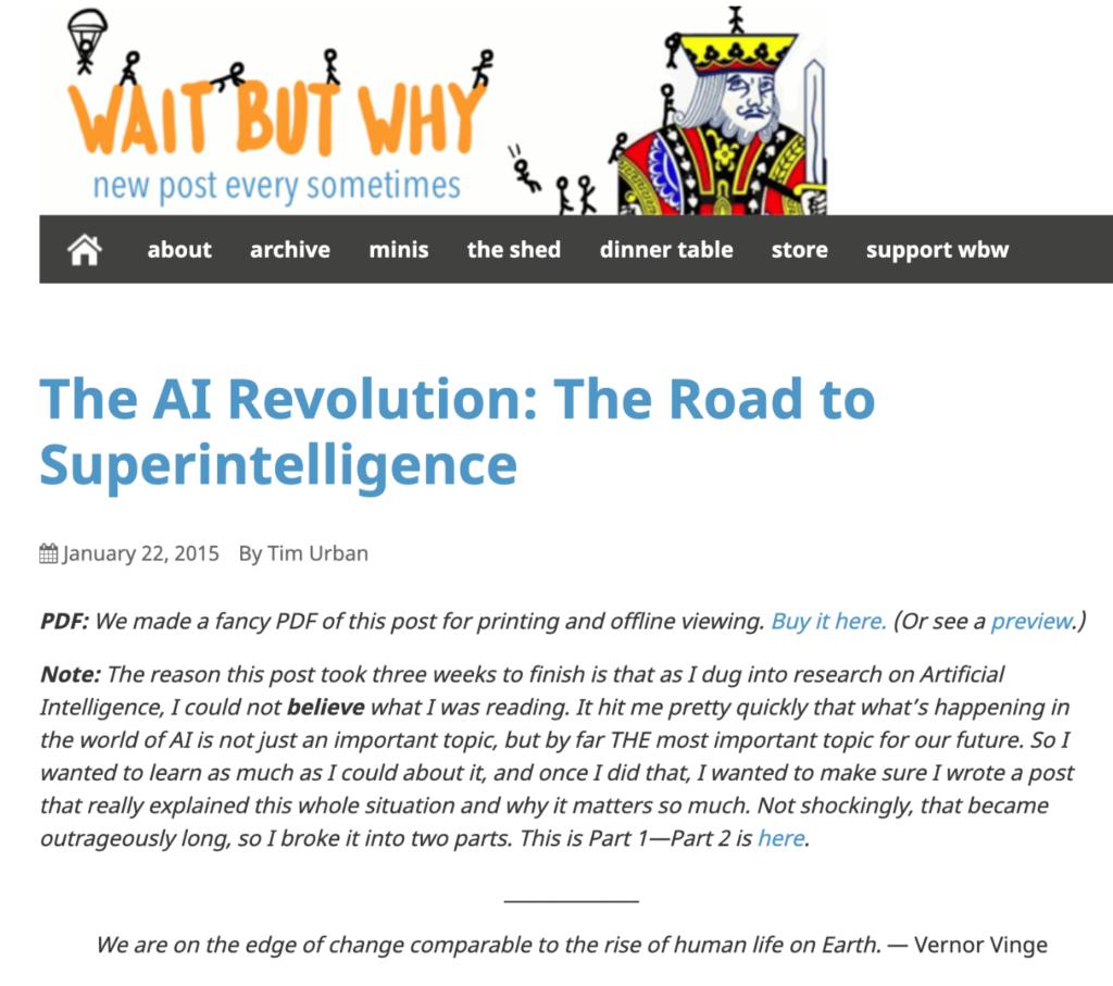 Waitbytwhy Blog