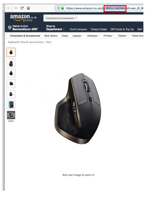 Amazon link product ASIN