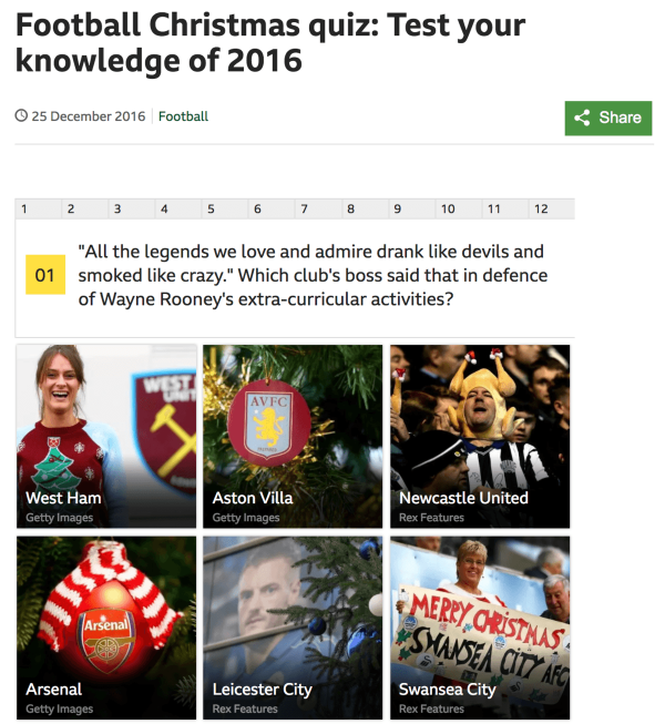 BCC Football Christmas Quiz